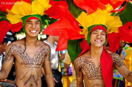 The Aliwan Fiesta is an annual event that gathers the different cultural festivals of the Philippines where they compete in dance parades and float competitions, showcasing the different Filipino cultures and heritages.