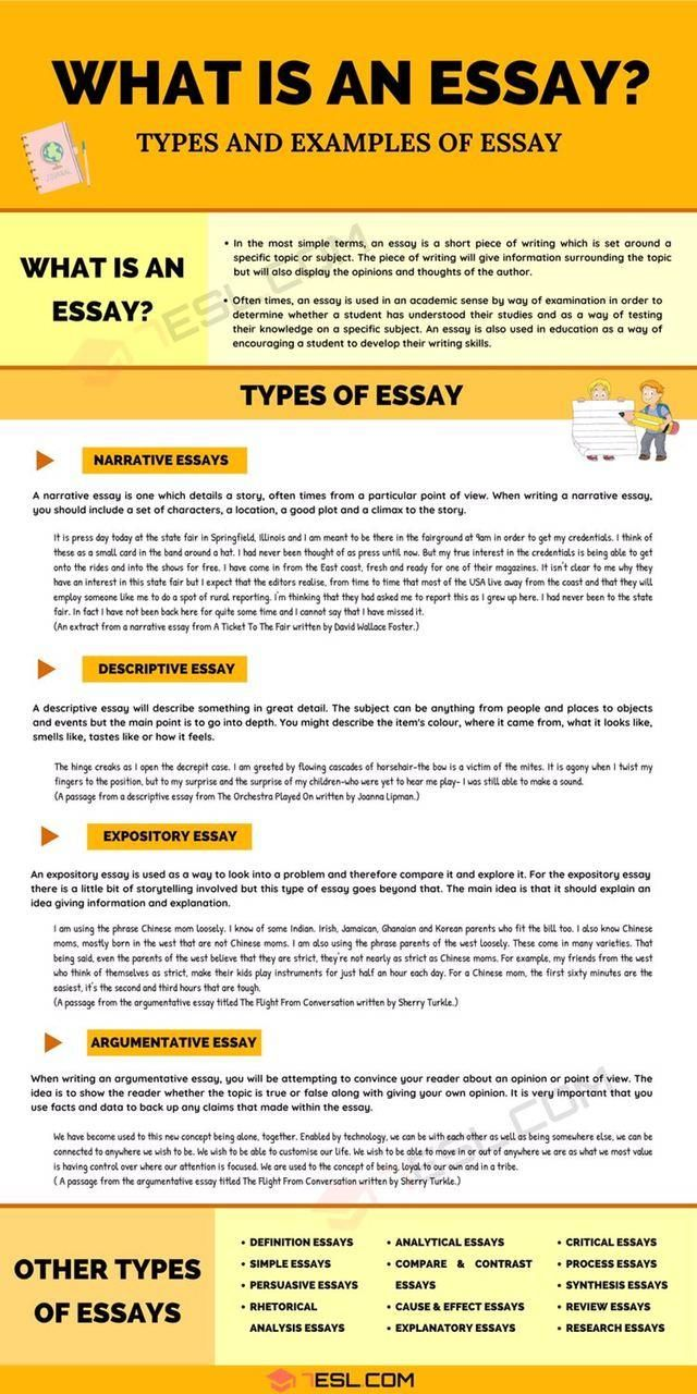 What I An Essay Type Of Writing Skill
