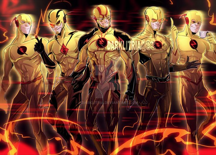 The Reverse Flash of all worlds! - Art by darklitria : FlashTV