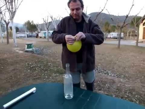 ¿COMO ELEVAR UN GLOBO SIN COMPRAR HELIO? Elevación de un globo lleno de hidrógeno - YouTube