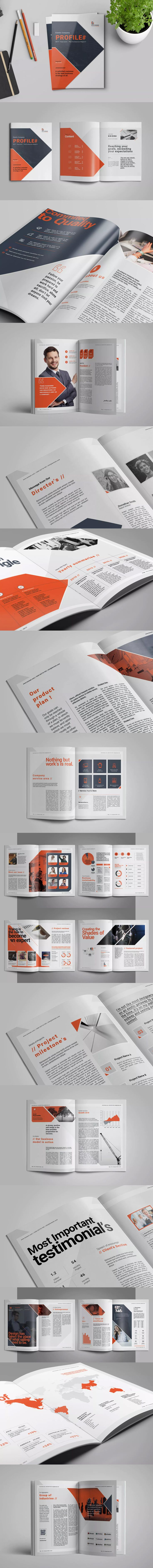 Template Formal Letter%0A Company Profile Template InDesign INDD  A  and US Letter Size