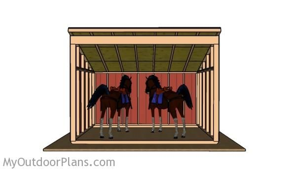 Horse shelter plans outdoor shed plans free pinterest for Three sided shed plans