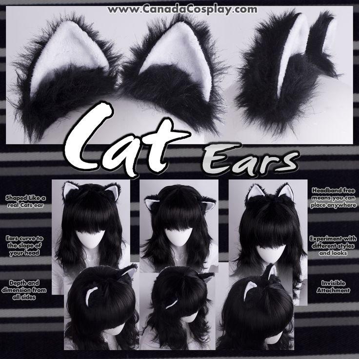 Cat Ears in Black and White by calgarycosplay.deviantart.com on @deviantART