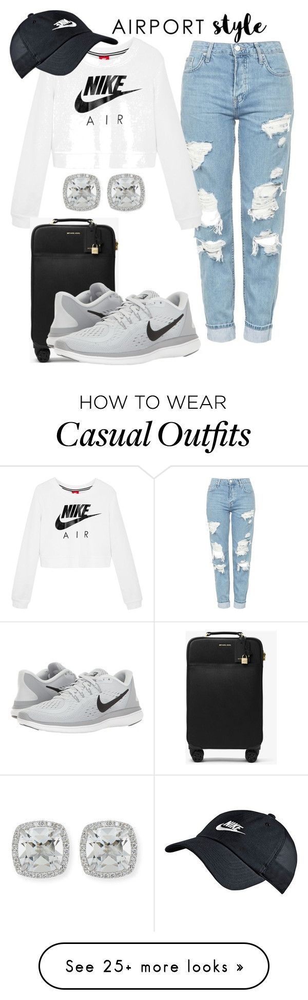 nike shoes Cute Casual by clara-palmer on Polyvore featuring Topshop, NIKE, MICHAEL Michael Kors and Frederic Sage