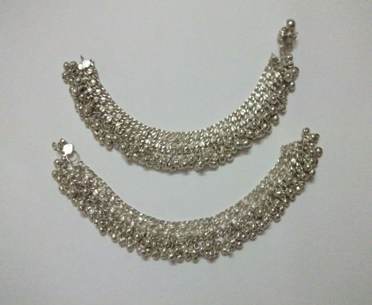 Tribal silver bell Anklets. Must remember to get something like these when in Bangladesh