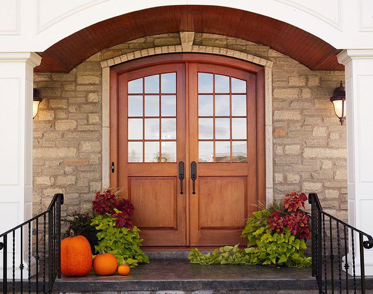 Mahogany Entrance - 12 lites over 1-panel arched top doors & 27 best Upstate Door Custom Exterior Designs images on Pinterest ...