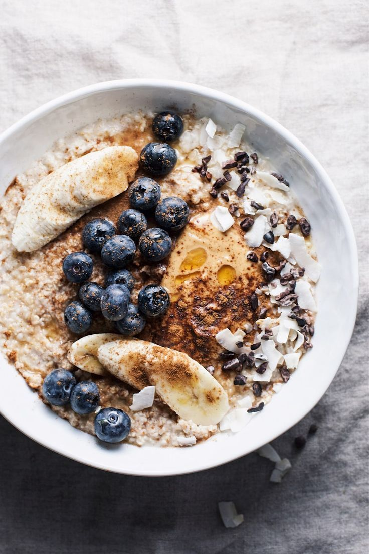 Nourishing Oatmeal Breakfast Bowl With All The Best Toppings Yummy Wholesome And The Best Way To Healthy Peanut Butter Easy Oatmeal Recipes Breakfast Bowls