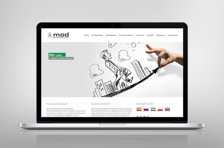 Webdesign, Homepage Werbung Corporate Design Personaldienstleister Atenton Werbung Werbeagentur