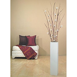 @Overstock - Sleek, stylish vase is finished in a matte white colorDecorative accessory features roses handcrafted from the dried bark of the sola plantTogether, the vase and the floral arrangement stand over five feet tall http://www.overstock.com/Home-Garden/Mini-Roses-with-27-inch-Tall-White-Floor-Vase/4402366/product.html?CID=214117 $50.49