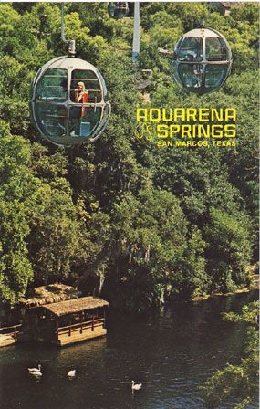 Aquarena Springs Skyride, San Marcos.  Miss this so much.  Love to take the ride over the river and walk the trails on the other side and see the little shops.