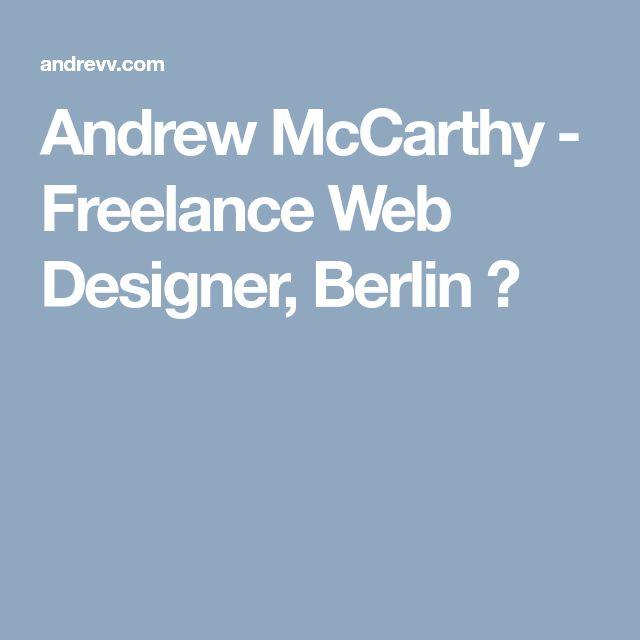Andrew McCarthy - Freelance Web Designer, Berlin ✍