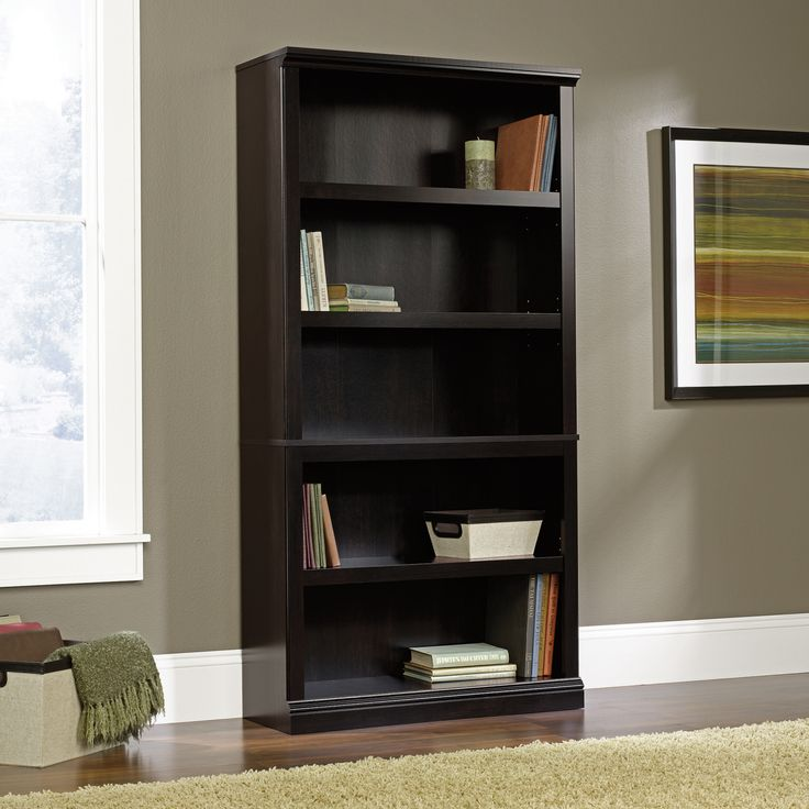 Sauder Bookcase Black - Home Office Furniture Ideas Check more at http://fiveinchfloppy.com/sauder-bookcase-black/
