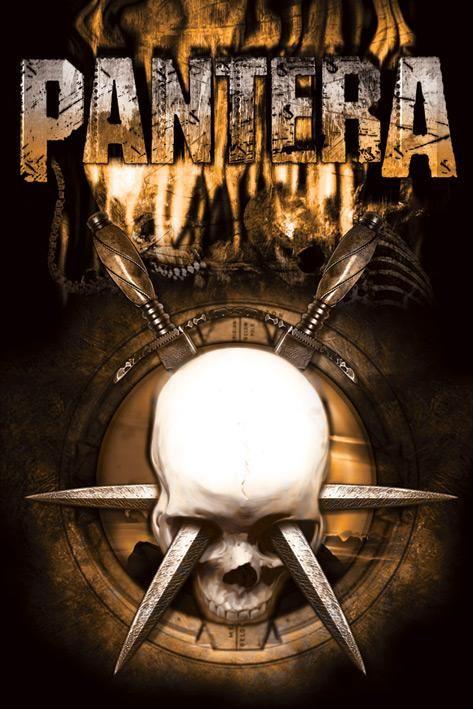 pantera ARTWORK | Pantera posters - Pantera Skull & Knives poster PP31572 - Panic ...