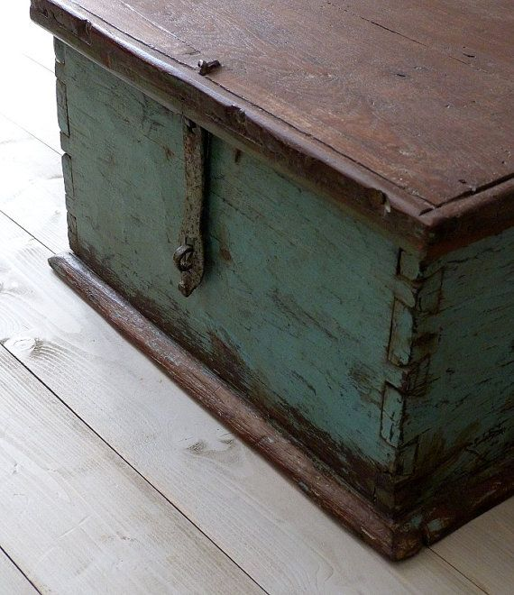 Distressed Rustic Storage Box by OrmstonSaintUK on Etsy, £110.00