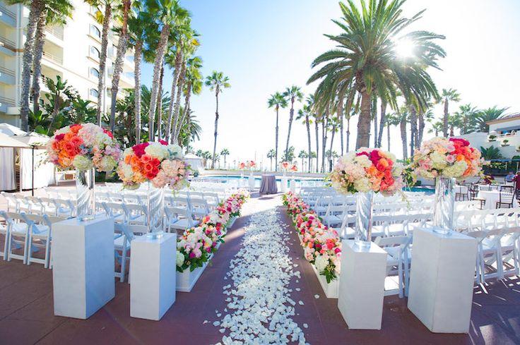 Poolside, South Asian wedding at the Waterfront Beach Resort, Huntington Beach, CA shaadishop.co