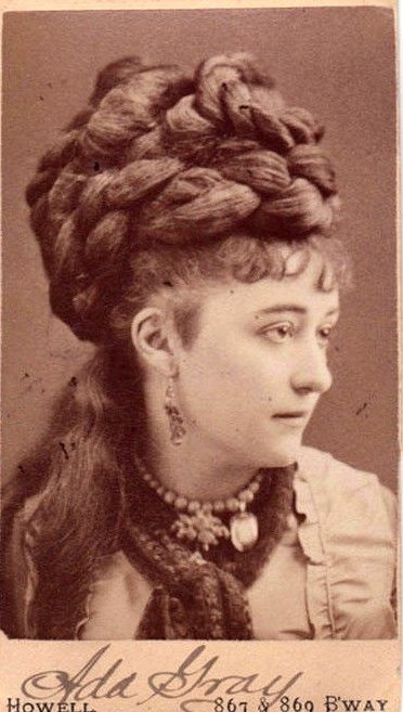 Contemporary carte de visite, 1860s This Victorian lady has probably given  nature a hand in