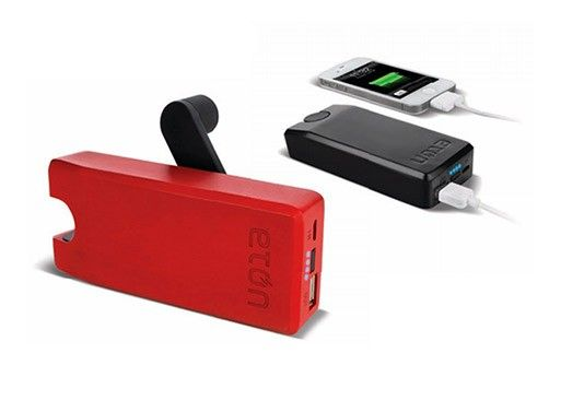 HAND CRANK PHONE CHARGER -- take stock of your disaster kit and make sure you have an adequate wind-up charger for your mobile phone. Etón has a new rechargeable USB battery pack with a hand turbine power generator; one minute of cranking can produce power for a 30-second call or a few important texts. Available for pre-order, starting at $50.