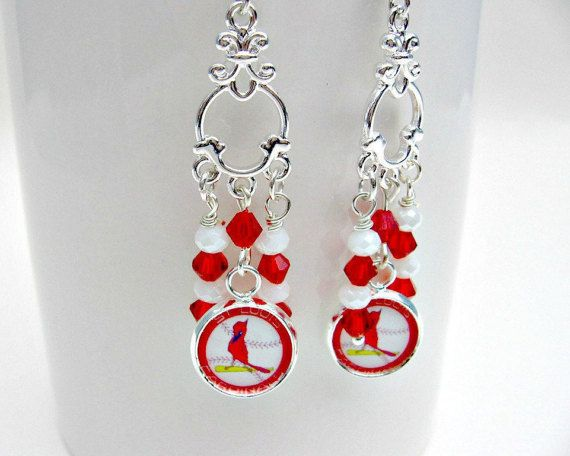 St. Louis Cardinals Earrings St. Louis Cardinals Baseball