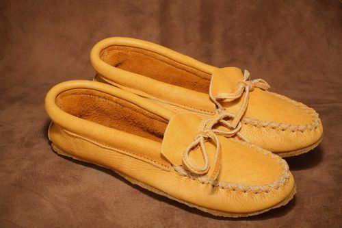 Moose moccasin with crepe sole. #leather #Canada #handmade #rockwood #ontario #like #daily #fashion #hidesinhand #moose #hide #leather #moccasin #mens #fashioin