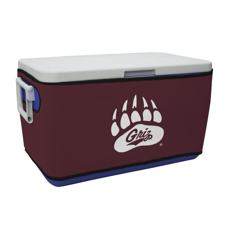 The Montana Grizzlies Rappz 48 Quart Cooler Covers are fantastic looking and really show your University of Montana spirit. They are designed to fit over the Coleman 48 Quart Coolers but will fit most