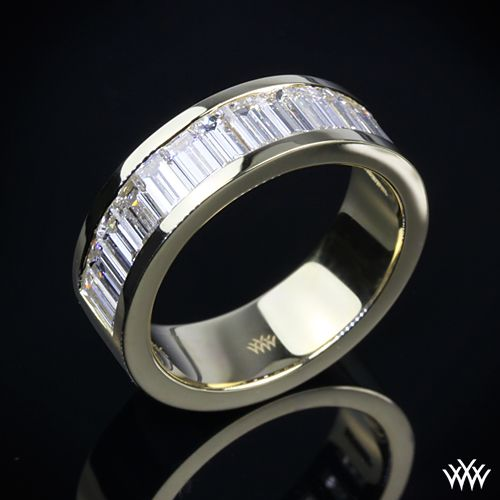 Men deserve diamonds too unique Diamond Wedding Band is set in 18k Yellow