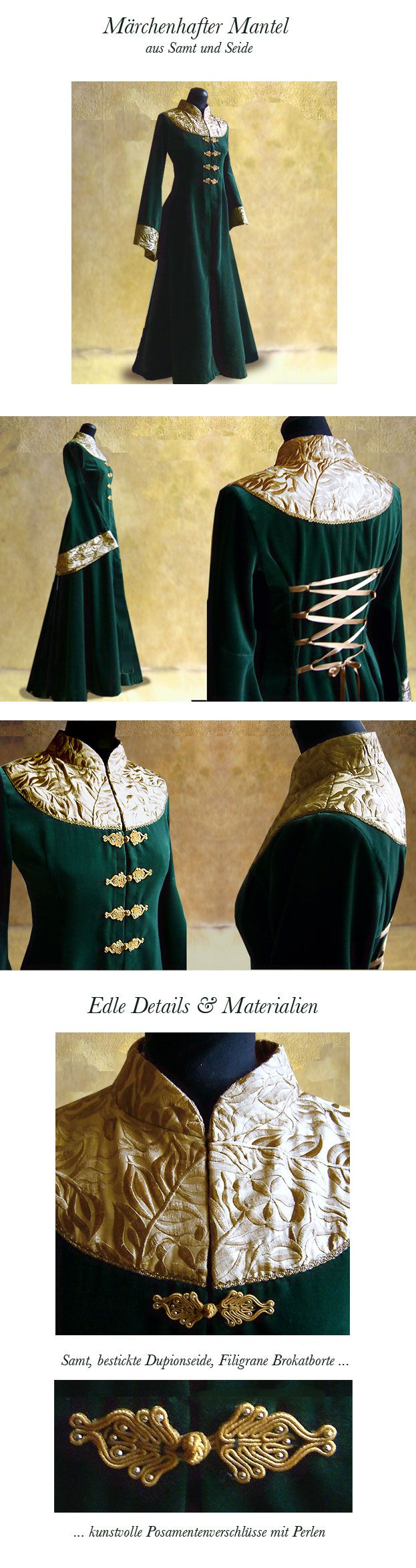 Green Eowyn coat http://www.redrose-online.de/