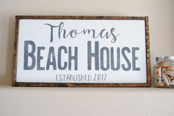 Personalized Beach Sign Custom Beach Sign Custom Beach House