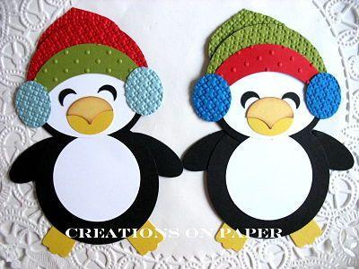 Stampin' Up!  Ornament Punch  Kay Sha  Winter Penguins