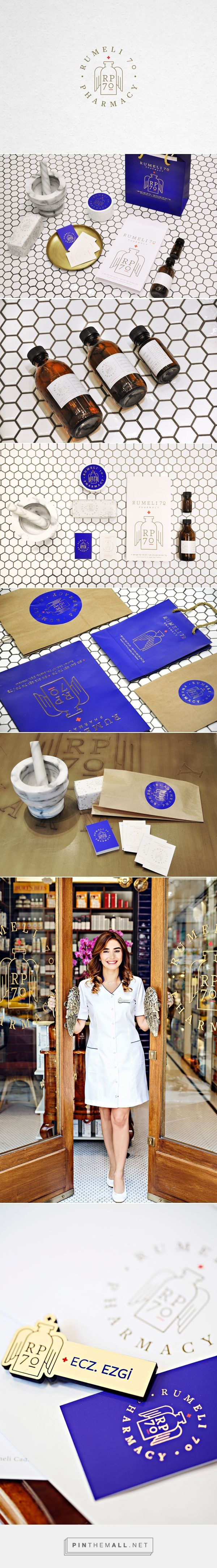 Rumeli70 Pharmacy identity packaging branding on Behance by Ipek Eris curated by Packaging Diva PD. Pharmacy branding and collateral for a newly opened pharmacy in the city of Instanbul.