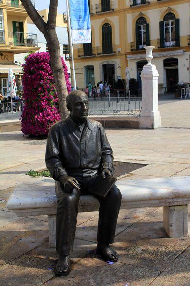 Pablo Picasso, statue, Malaga