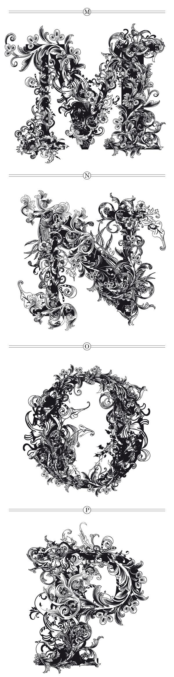 BRUSHWOOD by Riccardo Sabatini, via Behance, M-N-O-P