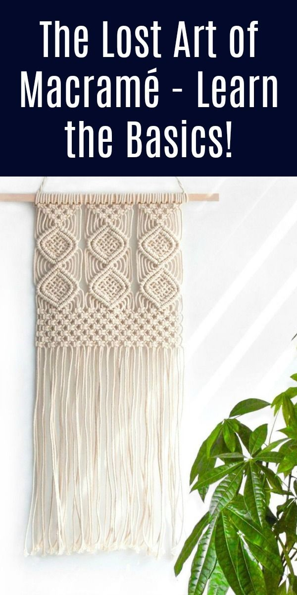 Macramé is an easy textile craft made by knotting! Bring back this vintage art - learn how to do it with these basic supplies.