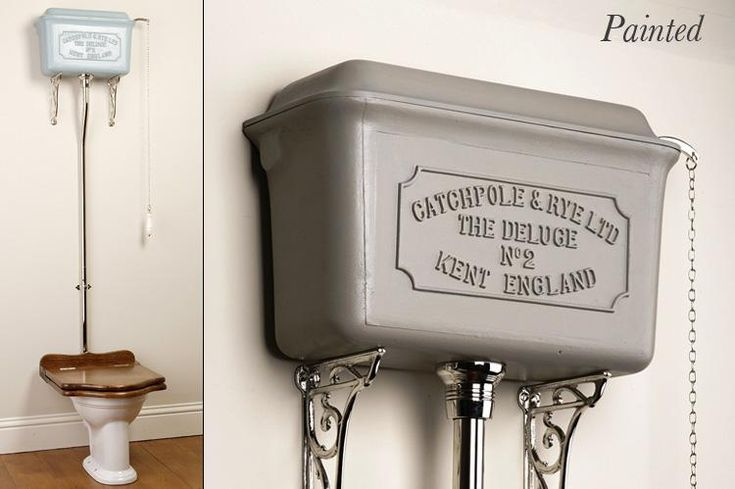 Old Fashioned Toilet Cistern