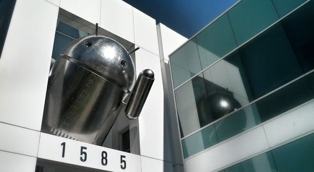 Did Google make its latest Android statue out of chrome for a reason