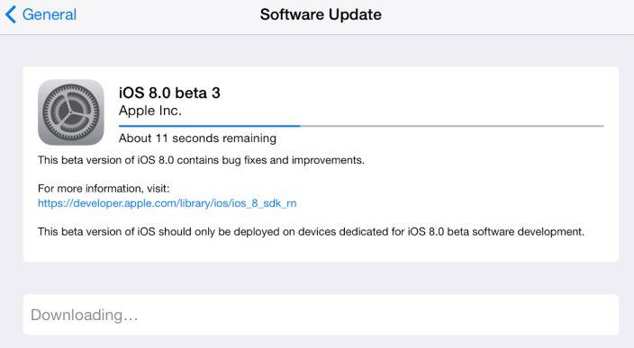 iOS 8 Beta 3 Yayınlandı! #apple #iOS8 #iOS8beta3