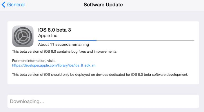 iOS 8 Beta 3 Yayınlandı! #apple #iOS8 #iOS8beta3