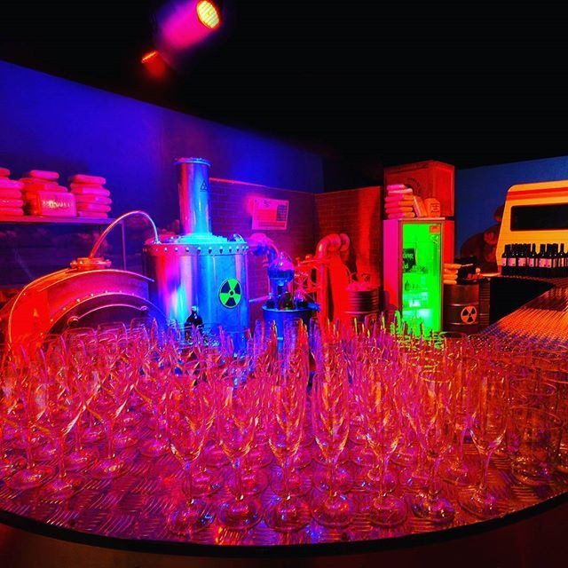 """Have you seen our Breaking Bad bar yet? #breakingbad #bar #vividsydney #scifi #lights #scientificlab #lab #riskybusiness #props #science #crime #criminal #events #eventphotography #trend #news #socool #nighttime #nightlife #nightclub #desert #usa #american #colour #neon #chemical #experiments #scientist #party #props"" by @sydneypropspecialists. #이벤트 #show #parties #entertainment #catering #travelling #traveler #tourism #travelingram #igtravel #europe #traveller #travelblog #tourist…"
