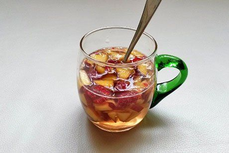 Pfirsich-Himbeerbowle - Rezept