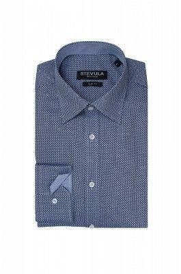 Čierno-modrá pánska košeľa
