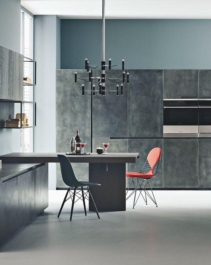 Legno materico, metallo e Laminam - Nuove finiture per la cucina Fifty by Zampieri @zampiericucine