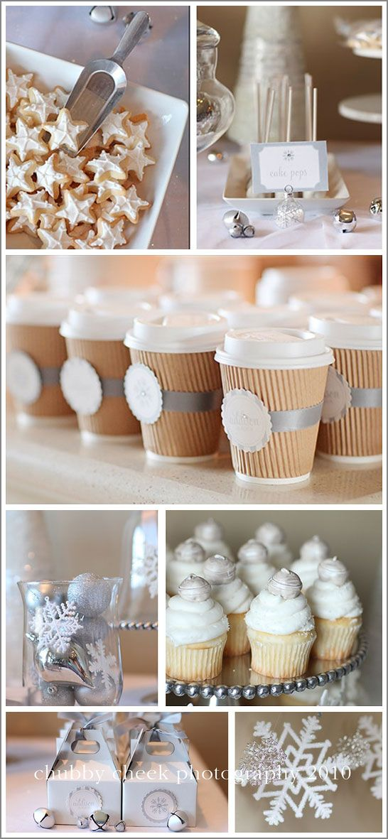 hot cocoa and snow party theme