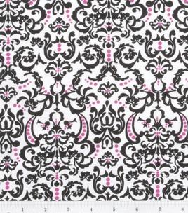 Keepsake Calico Fabric Chic Bebe Ornate Baroque White