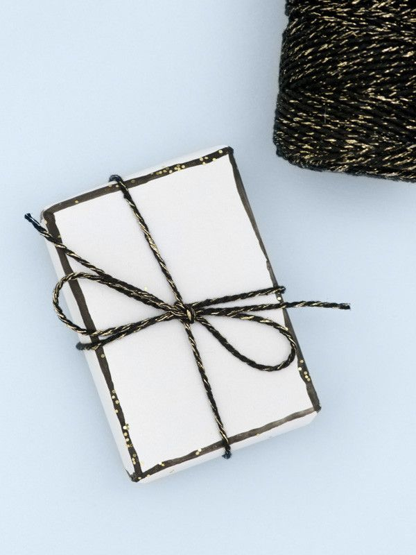 Black and gold sparkle bakers twine