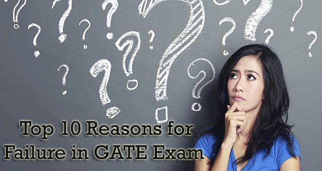 #Top10Reasons Why a Student Can't Clear GATE Exam? #GATE2018 http://gate2018.com/top-10-reasons-for-failure-in-gate-exam/