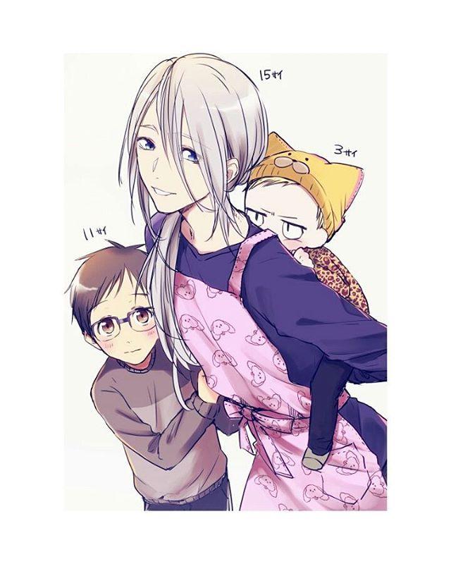 Mama Victor babysit Yuri and baby Yurio