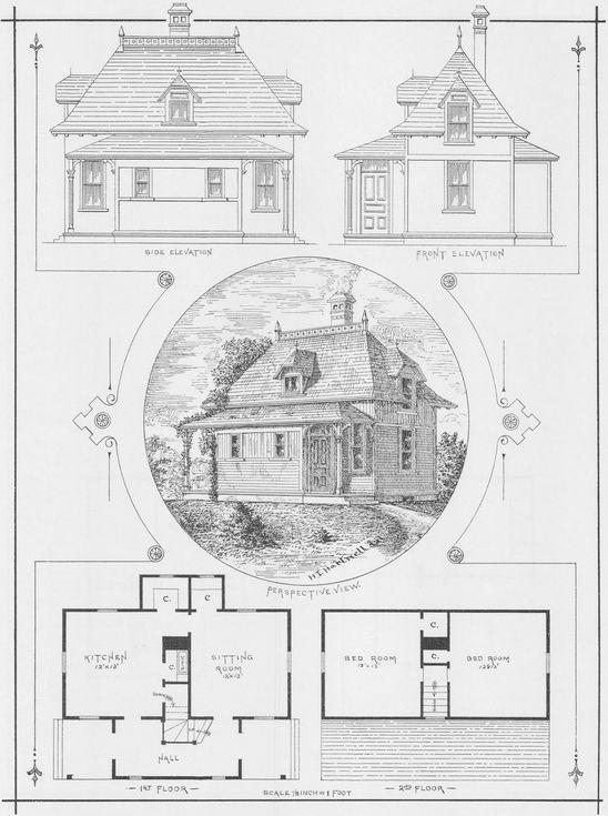 Victorian Cottage Plans Small Cottage House Plans 1881 Antique Victorian Architecture