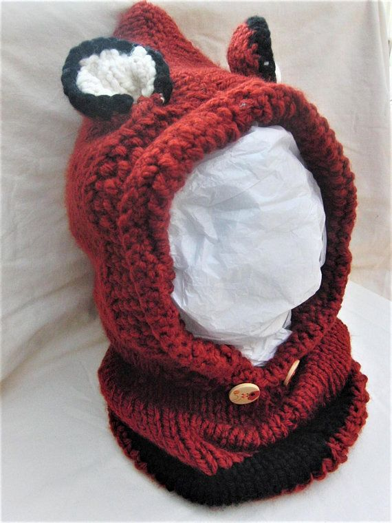 5cf2a8a0d94 Chunky Winter Fox Cowl Hood