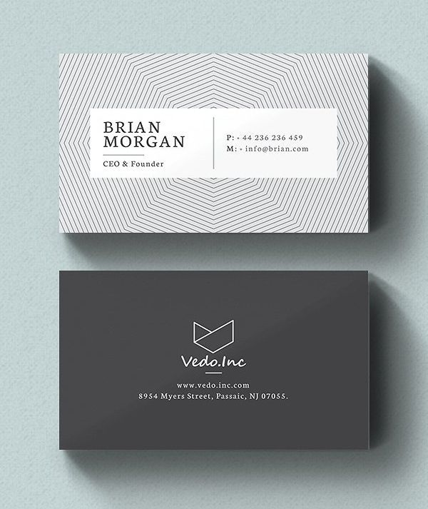 Clean Business Card Template Best For Personal Identity Bestbusinesscard Business Card Template Design Cool Business Cards Free Business Card Design Templates