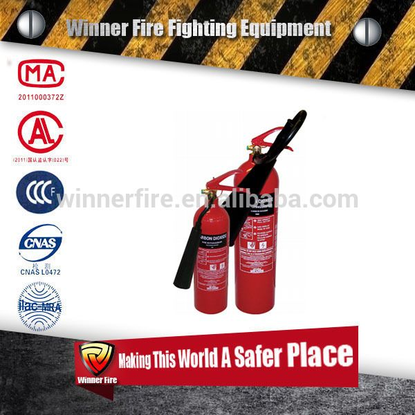 Mini type Co2 fire extinguisher classes for multipurpose