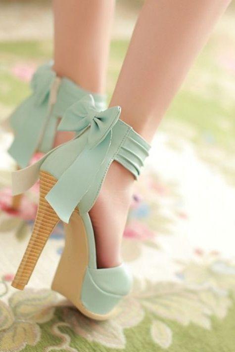 Mint Bow Heels ♥